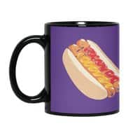 Hotdogs in a bun - black-mug - small view