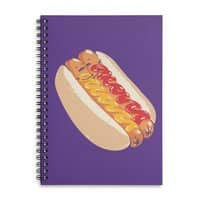 Hotdogs in a bun - spiral-notebook - small view