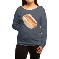 Hotdogs in a bun - womens-long-sleeve-terry-scoop - small view