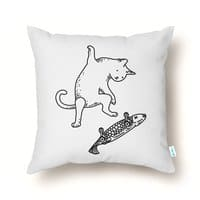 Street cat - throw-pillow - small view