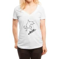 Street cat - womens-deep-v-neck - small view