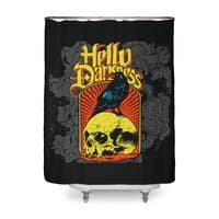 Hello Darkness - shower-curtain - small view