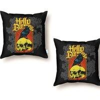 Hello Darkness - throw-pillow - small view