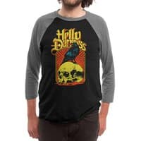 Hello Darkness - triblend-34-sleeve-raglan-tee - small view