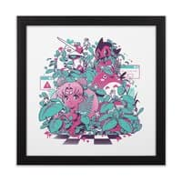 A N I M E W A V E - black-square-framed-print - small view