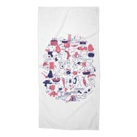 Food Fight! - beach-towel - small view