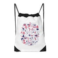 Food Fight! - drawstring-bag - small view