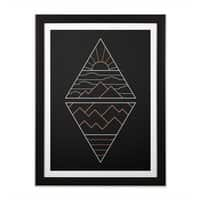 Earth, Air, Fire & Water - black-vertical-framed-print - small view