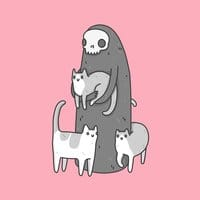 The grim and her cats - small view