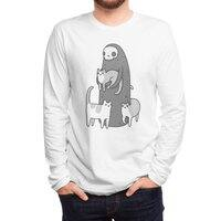 The grim and her cats - mens-long-sleeve-tee - small view