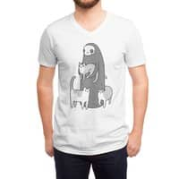 The grim and her cats - vneck - small view