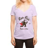 Liar Liar… - womens-deep-v-neck - small view