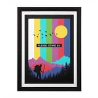 Life in technicolor - black-vertical-framed-print - small view