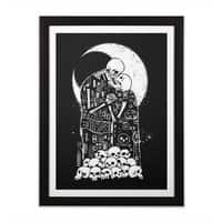 The Kiss of Death - black-vertical-framed-print - small view
