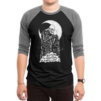 The Kiss of Death - triblend-34-sleeve-raglan-tee - small view