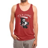 It's A Living - mens-triblend-tank - small view