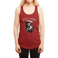 It's A Living - womens-racerback-tank - small view