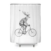 Even a Gentleman rides - shower-curtain - small view