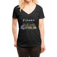 Fiends - womens-deep-v-neck - small view