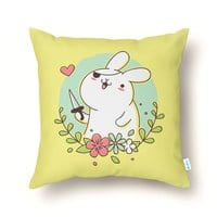 Badass Rabbit - throw-pillow - small view
