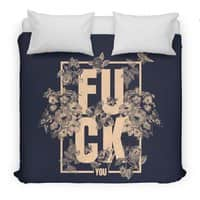 F is for FLOWERS  - duvet-cover - small view