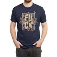 F is for FLOWERS  - mens-triblend-tee - small view