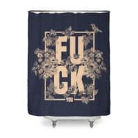 F is for FLOWERS  - shower-curtain - small view