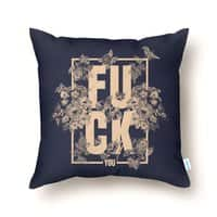 F is for FLOWERS  - throw-pillow - small view