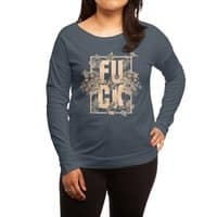 F is for FLOWERS  - womens-long-sleeve-terry-scoop - small view