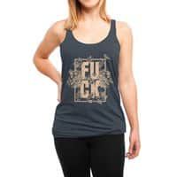 F is for FLOWERS  - womens-triblend-racerback-tank - small view