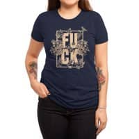 F is for FLOWERS  - womens-triblend-tee - small view