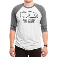 Full of Pizza and Doubts - triblend-34-sleeve-raglan-tee - small view
