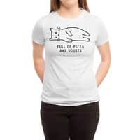 Full of Pizza and Doubts - womens-triblend-tee - small view