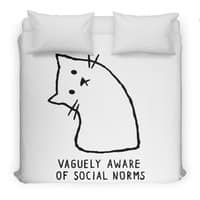 Vaguely Aware of Social Norms - duvet-cover - small view