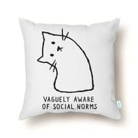 Vaguely Aware of Social Norms - throw-pillow - small view