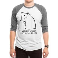 Vaguely Aware of Social Norms - triblend-34-sleeve-raglan-tee - small view