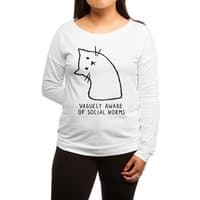 Vaguely Aware of Social Norms - womens-long-sleeve-terry-scoop - small view