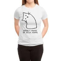 Vaguely Aware of Social Norms - womens-triblend-tee - small view
