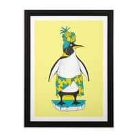 Tropical ice - black-vertical-framed-print - small view