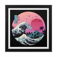 The Great Retro Wave - black-square-framed-print - small view