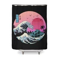 The Great Retro Wave - shower-curtain - small view