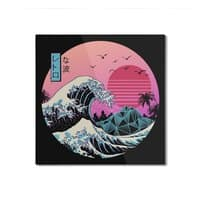 The Great Retro Wave - square-mounted-aluminum-print - small view