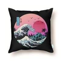 The Great Retro Wave - throw-pillow - small view