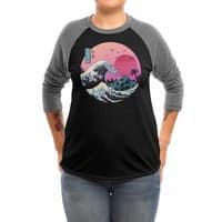 The Great Retro Wave - triblend-34-sleeve-raglan-tee - small view