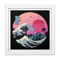 The Great Retro Wave - white-square-framed-print - small view