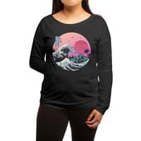 The Great Retro Wave - womens-long-sleeve-terry-scoop - small view