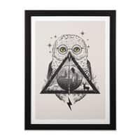 Owls and Wizardry - black-vertical-framed-print - small view