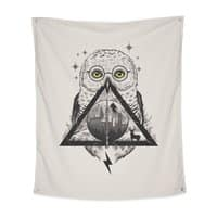 Owls and Wizardry - indoor-wall-tapestry-vertical - small view