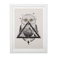 Owls and Wizardry - white-vertical-framed-print - small view