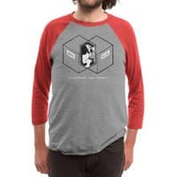 Schrödinger's Venn Diagram - triblend-34-sleeve-raglan-tee - small view